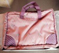American Girl Bitty Baby Bitty's Diaper Bag NIB Pink Purple Flowers Polka Dots