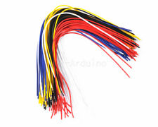 100PCS Color Flexible Two Ends Tin-plated Breadboard Jumper Cable Wires 20CM