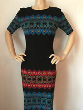 NWT St John Knit dress size 4 black caviar milano wool rayon