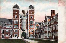 PHILADELPHIA PA Entrance to Dormitory - Original Postcard (BBN)