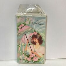 Vintage Bridal Shower Invitations Set Of 10 NOS Buzza Cardoza Pink Lace Parasol