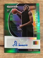 2020-21 PANINI PRIZM DRAFT PICKS PROSPECT GREEN PRIZM PAUL EBOUA AUTO RC PA-PE
