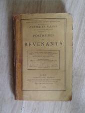 CUVILLIER-FLEURY. Posthumes et revenants. Calmann Lévy. 1879.