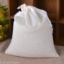 (20) LARGE 8x10 Cotton Muslin Drawstring Bags Bath Tea, Soap, Herb