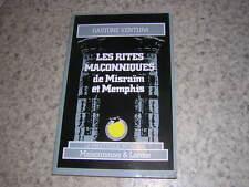 1986.rites maçonniques Misraïm et Memphis / Ventura.franc-maçonnerie
