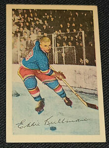 1952-1953 - PARKHURST - EDWARD KULLMAN - NEW YORK RANGERS - HOCKEY CARD #18