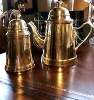 Vintage Hotel Silverplated Coffee Pot and Sugar