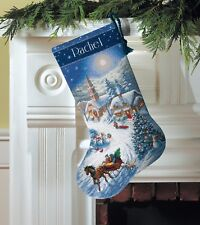 "Dimensions Gold ""Sleigh Ride at dusk strocking"" Cross Stitch cruz envase clave"