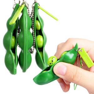 Pea Pod Pop Stress Relief Anti-Anxiety Toy - Autism ADHD Keyring Squeeze Bean