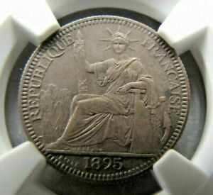 French Indo China 10 Centimes 1895-A (Poids 2.721) NGC MS 62