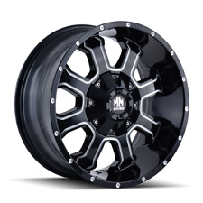 Mayhem Fierce 8103 Black and Milled 20x9 18mm 5x150 5x139.7 Dodge Ram Tundra
