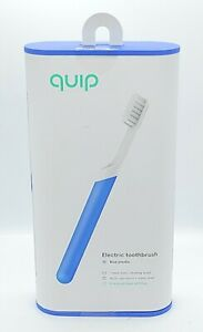 QUIP Blue Plastic Electric Toothbrush Sonic Vibrating