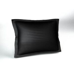 Sateen Stripe Tailored Pillow Sham with Envelope Closer, Decorative Sateen