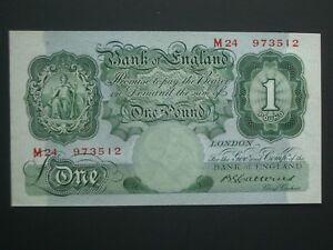 **Fresh £1 'AUNC/UNC' Crisp** 'M24'  Catterns  1930  British banknote****