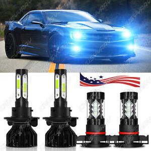 Para For Chevrolet Camaro 2010-2013 faro LED de haz alto / bajo+luces antiniebla