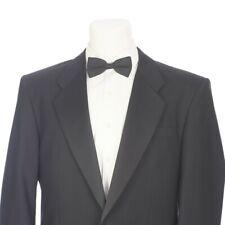 Pierre Balmain Solid Black Single Vent One Button Tuxedo Jacket 40 Regular 40R
