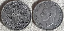 1939 EF King George VI Silver Half Crown Coin