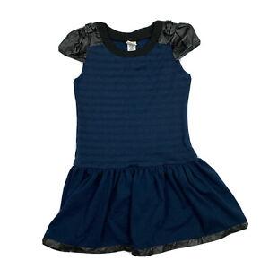 Harajuku Mini For Target Blue Faux Leather Trim Dress M 7/8