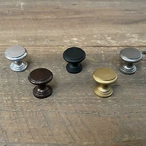 Cast Iron Cabinet Knobs with Smooth Circular Choose Your Finish .75 Inch