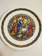 Darceau- Limoges - Stained Glass Christmas Plate 4th Issue - La Purification