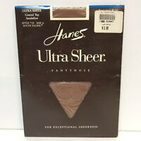 VTG Hanes Ultra Sheer Pantyhose Control Top Sandalfoot 710 Size A South Pacific