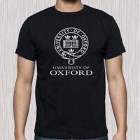 Oxford University Famous Campus Logo Men's Black T-Shirt Size S to 3XL