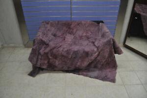 Luxury Purple Astrakhan Skin Fur Throw Real Lamb Fur Blanket / Bedspread