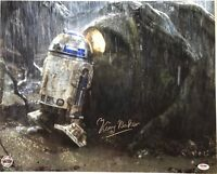 Kenny Baker r2 d2 signed Star Wars photo 16x20 inch esb psa dna coa