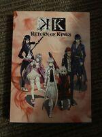 K: Return of Kings (DVD, 2017, 2-Disc Set) VGC Free US Shipping