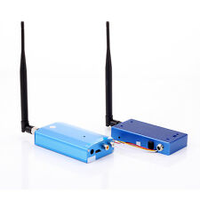 Wireless 1.3G 10W 4CH CCTV FPV Audio Video AV Transmitter & Receiver Antenna Set