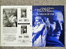 Touch Of Evil 1986 Dealer Only Deluxe 4-Page Video Movie Brochure, Cult Item