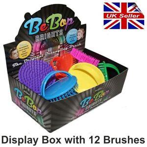 12 x Denman D6 Be Bop Hair Brush Gentle Shampoo Scalp Massage. Bright Colours