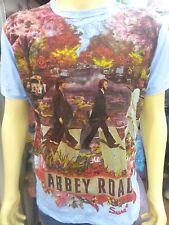 Men T shirt The Beatles short sleeve Cotton Sure Music Hippie Rock Abey road M
