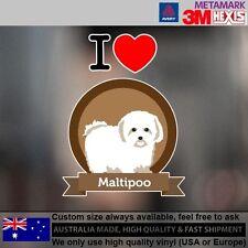 Maltipoo Illustration Sticker Style Custom cute Gift  9.6 cm  x 12.8 cm