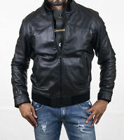 ★Giacca Giubbotto Uomo in di PELLE 100% Men Leather Jacket Veste Homme Cuir w52