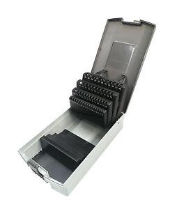 Bohrerkassette LEER für 51 Bohrer 1 - 6 mm Kunststoffkassette Rose Bohrerbox