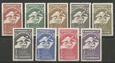 Estampillas-Venezuela. 1950. 75th aniversario de la U.P.U. Set. SG: 830/38. estampillada sin montar o nunca montada.