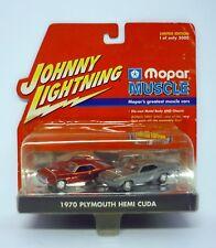 JOHNNY Rayo 1970 Plymouth Hemi Cuda MOPAR Muscle LIMITADO Die-cast MOC 2000
