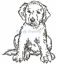 PUPPY DOG Small Wood Mounted Rubber Stamp NORTHWOODS B10322 New