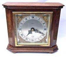 ELLIOTT LONDON Walnut & Burr Walnut Bracket Mantel Clock RUSSELLS LTD