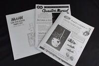 Set of M&W Hand Clutch Live PTO IH Farmall M MD MV MVD Owners Parts List Manuals
