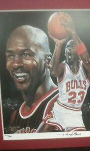 Michael Jordan Limited Edition Low Number Matted Lithograph by Angelo Marino