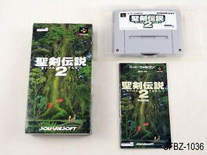 Complete Seiken Densetsu 2 Super Famicom Japanese Import SFC Japan JP US Seller