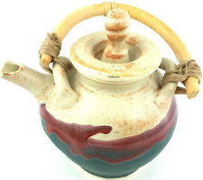 Vintage Tested By Fire Pottery Inc Stoneware Teapot Signed Coffee Pot