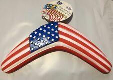 VOTOYS AMERICANA PATRIOTIC VINYL BOOMERANG AMERICAN FLAG DOG TOY. FREE SHIP USA