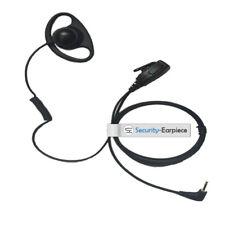 Motorola Radio D Shape Earpiece Headset Mic 1 Pin 2.5mm jack Security Earpiece