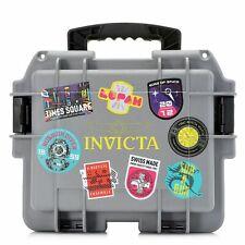 Invicta 8 Slot Case Waterproof Impact Patch Multi Color Plastic Watch Box Case