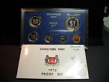 S-65: RARE Singapore 1972 PROOF Set, c/w Cert, No 0400 of 749,bid start reduced