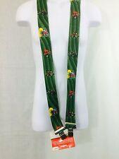Suspenders, HD, green w/ red Tractors