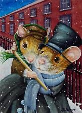 ACEO Limited Edition Print Dickens Christmas Mice No. 4 Tiny Tim by J. Weiner